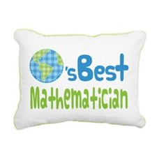 Earths Best Mathematician Rectangular Canvas Pillo
