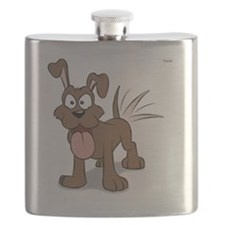 Happy Happy Dog Flask
