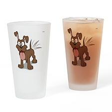 Happy Happy Dog Drinking Glass
