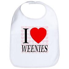 I Love Weenies Bib