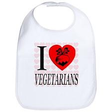 I Love Vegetarians Bib