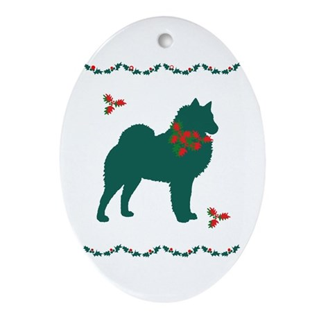 Christmas Spitz Oval Ornament