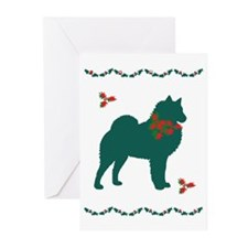 Christmas Spitz Greeting Cards (Pk of 10)