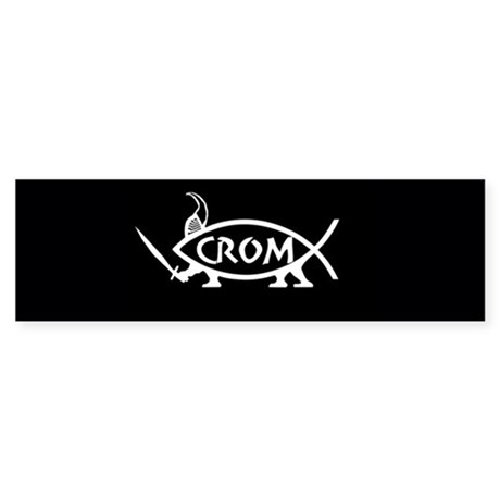 Crom Fish Sticker (Bumper)