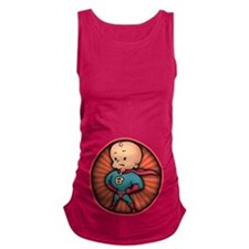 super-baby-T.png Maternity Tank Top