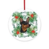 Miniature pinscher christmas Ornaments