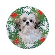 Shih Tzu Ornament (Round)