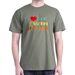 I Love My Twin Brother T-Shirt