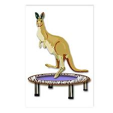 Jumping Kangaroo on Tramp Postcards (Package of 8)