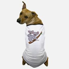 Koala and Baby on Eucalyptus Tree Bran Dog T-Shirt