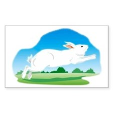 Leaping Rabbit in the Field Decal