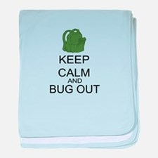 Keep Calm And Bug Out baby blanket