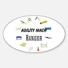 Dog Agility Title Sticker (oval)