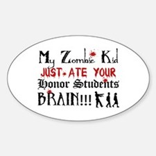 Zombie Kid Ate Honor Students Brain Decal