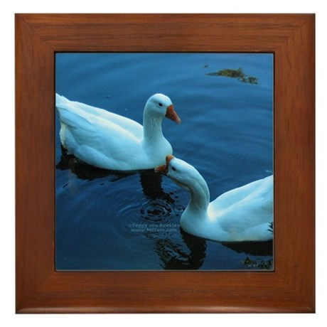 Twilight Geese Framed Tile
