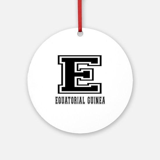 Equatorial Guinea Designs Ornament (Round)