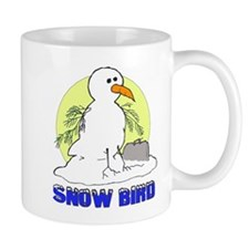 Snowbird Vacation Cartoon Small Mugs