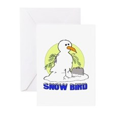 Snowbird Vacation Cartoon Greeting Cards (Package