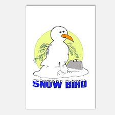 Snowbird Vacation Cartoon Postcards (Package of 8)