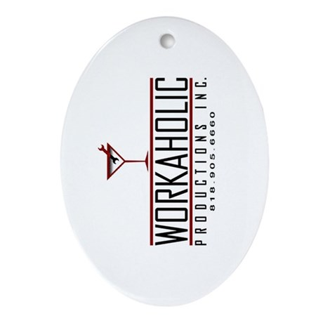 Workaholic Oval Ornament
