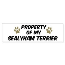 Sealyham Terrier: Property of Bumper Car Sticker