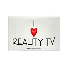 Love Reality TV Rectangle Magnet