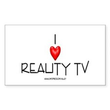 Love Reality TV Rectangle Decal