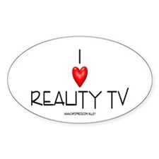 Love Reality TV Oval Decal