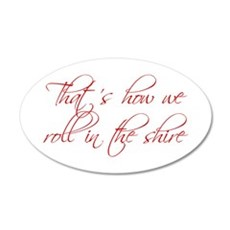 roll-in-shire-scr-dark-red Wall Decal