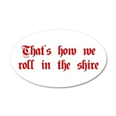roll-in-shire-plaing-dark-red Wall Decal