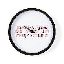 roll-in-shire-kon-dark-red Wall Clock