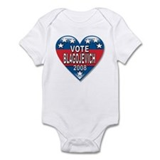 Vote Rod Blagojevich 2008 Political Infant Bodysui