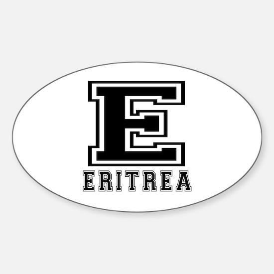 Eritrea Designs Sticker (Oval)