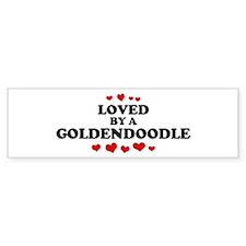 Loved: Goldendoodle Bumper Bumper Sticker