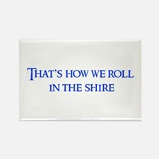 roll-in-shire-blue Rectangle Magnet