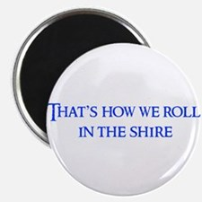 "roll-in-shire-blue 2.25"" Magnet (100 pack)"