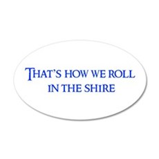 roll-in-shire-blue Wall Decal