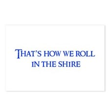 roll-in-shire-blue Postcards (Package of 8)