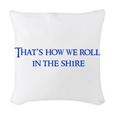 roll-in-shire-blue Woven Throw Pillow