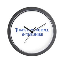 roll-in-shire-blue Wall Clock