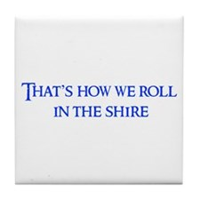 roll-in-shire-blue Tile Coaster