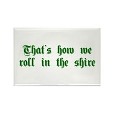 roll-in-shire-sha-g-green Rectangle Magnet