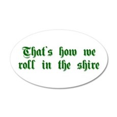 roll-in-shire-sha-g-green Wall Decal