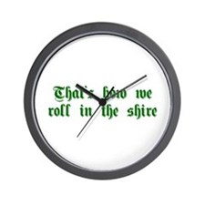 roll-in-shire-sha-g-green Wall Clock