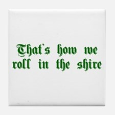 roll-in-shire-sha-g-green Tile Coaster