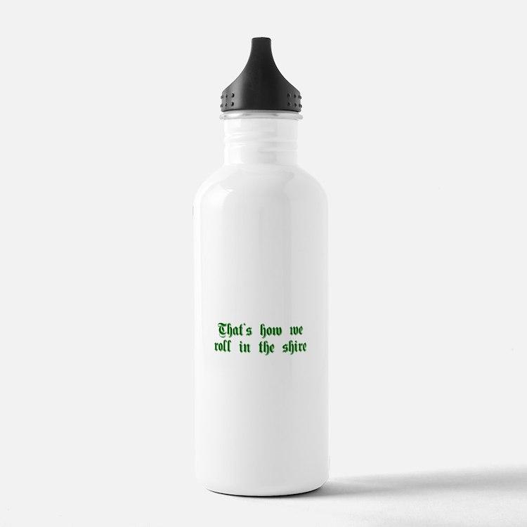 roll-in-shire-sha-g-green Water Bottle