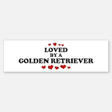 Loved: Golden Retriever Bumper Bumper Bumper Sticker