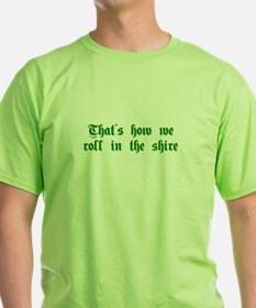 roll-in-shire-sha-g-green T-Shirt