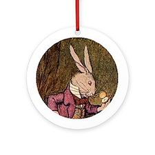 Winter 4 Rabbit Ornament (Round)