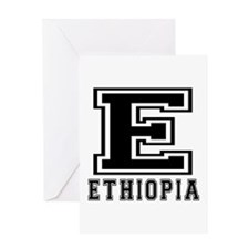 Ethiopia Designs Greeting Card